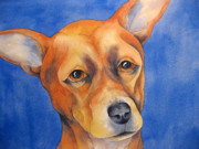 Print Of Paintings - Fawn Chihuahua by Cherilynn Wood