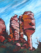Sedona Paintings - Fay Canyon by Sandy Tracey