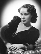 Cushion Metal Prints - Fay Wray, 1938 Metal Print by Everett
