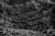 Black And White - Faye Canyon Rock Face by Bob Coates