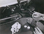 Fbi Prints - Fbi Forensic Science. A Technician Print by Everett
