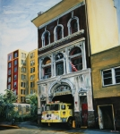 Bronx Fire House Prints - FDNY  Engine Company 41 Print by Paul Walsh