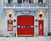Paul Walsh Framed Prints - FDNY Engine Company 65 Framed Print by Paul Walsh