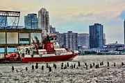 Fireboat Framed Prints - FDNY Fireboat Framed Print by Terry Cork