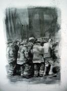 Paul Autodore Drawings Originals - Fdny by Paul Autodore