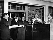 Swearing In Prints - Fdr Presidency.  From Left Samuel Eliot Print by Everett