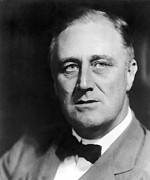 Franklin Delano Roosevelt Prints - Fdr Print by War Is Hell Store