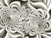 Digital Fractal Art Art - FE Bone Sculpture by Peggi Wolfe