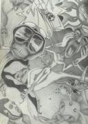 Skeletons Drawings - Fear and Loathing in this Infectious Life by Gerard  Schneider Jr