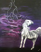 Thunder Painting Originals - Fear In The Night 2 by Denise Hills