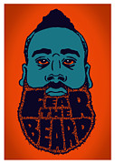 Oklahoma City Posters - Fear The Beard Poster by Jack Perkins