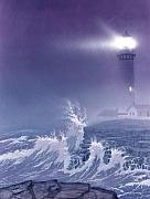 Lighthouses Paintings - Fearless - Psalm 27 by Cliff Hawley