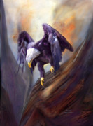 Eagle Mixed Media Metal Prints - Fearless Metal Print by Carol Cavalaris