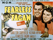 1950s Movies Framed Prints - Fearless Fagan, Carleton Carpenter Framed Print by Everett
