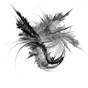 White Digital Art Posters - Feathers and Thread Poster by Scott Norris