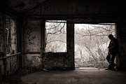 Abandoned Buildings Prints - February Print by Gary Heller