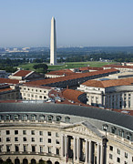 National Mall Posters - Federal Buildings - The Washington Monument and The National Mall - Washington DC Poster by Brendan Reals
