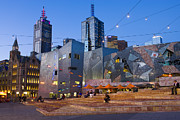 Federation Prints - Federation Square At Dusk Print by Greg Elms