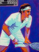 Racket Framed Prints - Federer Framed Print by Gail Zavala