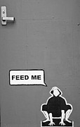 Hunger Prints - Feed Me Print by Paul Donohoe