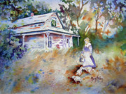 Shed Drawings - Feeding Time by Mary Haley-Rocks