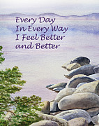 Lake Tahoe Paintings - Feel Better Affirmation by Irina Sztukowski