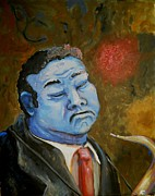 Blues Painting Originals - Feelin The Blues  by Nyiece Pregeant Owens