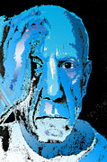 Pablo Picasso Prints - Feeling Blue Print by Jimi Bush