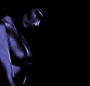 Nude Digital Art - Feeling Blue by Stefan Kuhn