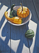 Gourds Paintings - Feeling Left Out by Steven Tetlow
