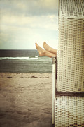 Beach Chair Prints - Feet Print by Joana Kruse