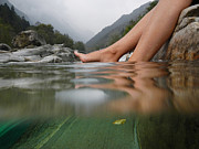 Under Water Prints - Feet on the water Print by Mats Silvan