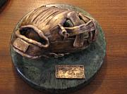 Baseball Sculpture Originals - Feilders Glove by Mark Farr