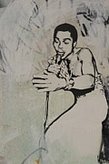 Grafitti Mixed Media - Fela Kuti by Dustin Spagnola