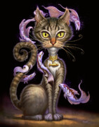 Cats Painting Posters - Feline Fantasy Poster by Jeff Haynie