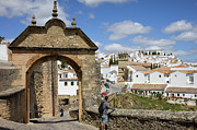 White Arched Bridge Prints - Felipe V Arch in Ronda Print by Artur Bogacki