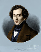 Anti German Prints - Felix Mendelssohn, German Composer Print by Omikron