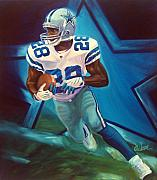 Cowboys  Painting Originals - Felix out of the blue by Jim Wetherington