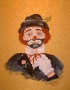 Felix The Clown Print by Arlene  Wright-Correll