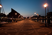 City Pier Prints - Fells Point Lights Print by Elizabeth Richardson