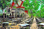 Amusement Parks Paintings - Feltmans Deutscher Garden Restaurant At Coney Island 1910 by Dwight Goss