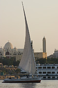 On-the-look-out Acrylic Prints - Felucca on the Nile by Darcy Michaelchuk