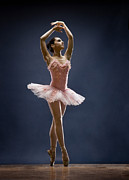 Ballet Dancer Posters - Female Ballet Dancer Dancing Poster by David Sacks