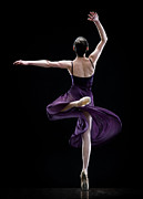 Ballet Dancer Photo Posters - Female Ballet Dancer Dancing, Rear View Poster by David Sacks