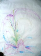 Spiritual Art Pastels Prints - Female blossoms Print by Tami Epstein