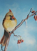 Special Occasion Painting Posters - Female Cardinal Poster by Jane  Harris