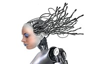 Automaton Framed Prints - Female Cyborg, Artwork Framed Print by Victor Habbick Visions
