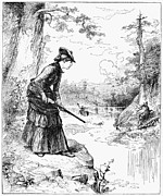 W.a Framed Prints - Female Hunter, 1883 Framed Print by Granger