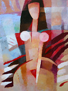 Abstract Nude Framed Prints - Female Impression Framed Print by Lutz Baar