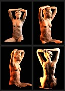 Figure Sculpture Ceramics Prints - Female Sculpture Study Print by Donovan  Hettich